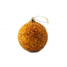 Amber bauble for a Christmas tree (large size)