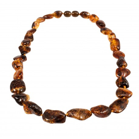 Green amber necklace