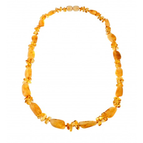 Stylized amber necklace