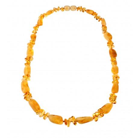 Stylized amber necklace