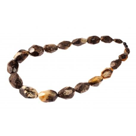 Black amber bead