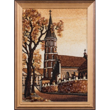 """Painting with amber  """"Church"""""""