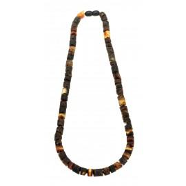 Black amber beads