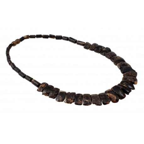 Black amber necklace