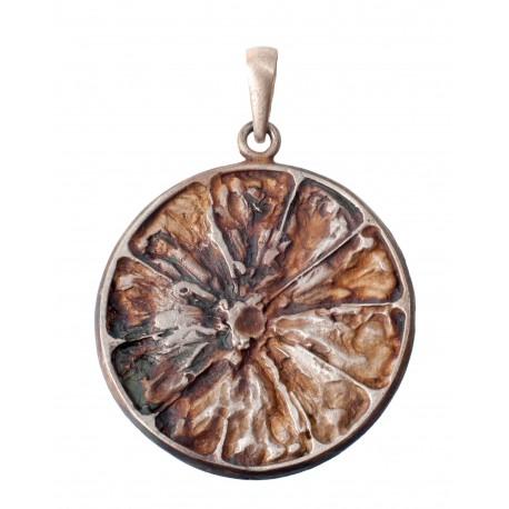 "Authentic silver pendant ""Orange"""