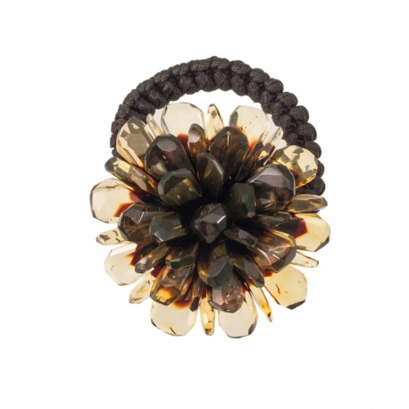 Hair accessory - amber flower