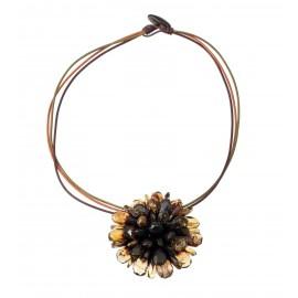 "Amber necklace-brooch ""Flower"""
