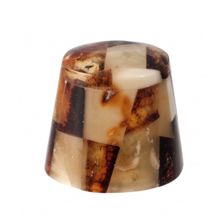 Thimble decorated with amber