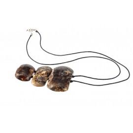 Black amber pendant