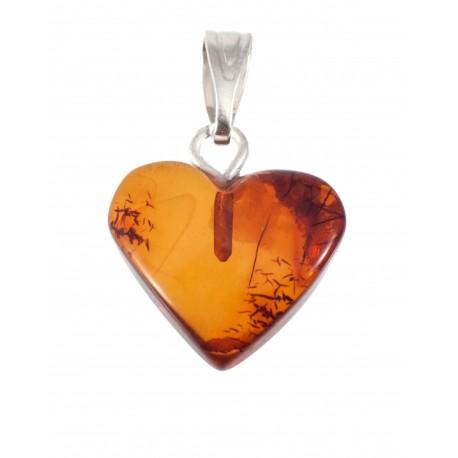 Amber pendant-heart