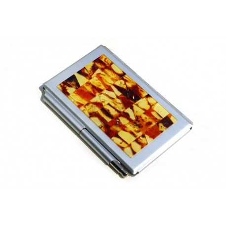 Business card holder with note leaves