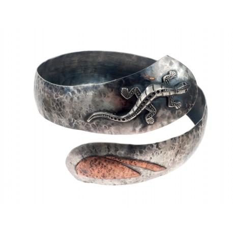 Massive silver bracelet