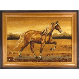 """Painting with amber """"Horse"""""""