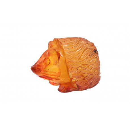 "Cognac color amber figurine ""Hedgehog"""