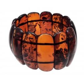 Rich cognac amber bracelet