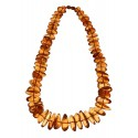 Transparent amber necklace
