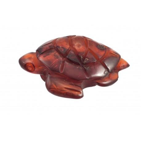 """Amber figurine """"Old Tortoise"""""""