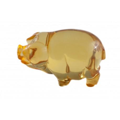 "Amber figurine ""Pig"""