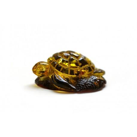 """Amber figurine """"Green Tortoise"""""""