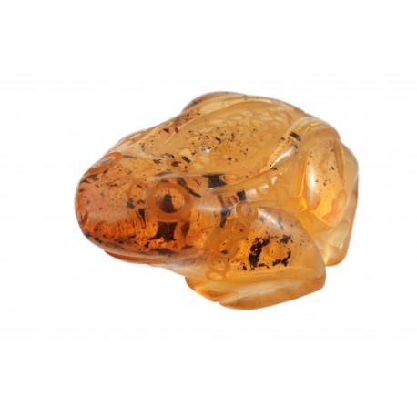 "Clear amber figurine ""Frog"""