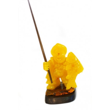 "Amber carving ""Happy Fisherman"""