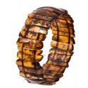Transparent cognac amber bracelet