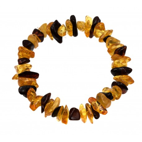 Yellow and cognac amber bracelet