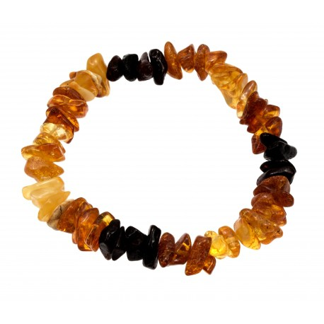 Colourful amber bracelet