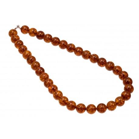 """Amber necklace """"Shining"""""""