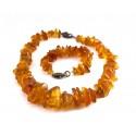 Antique amber necklace and bracelet set